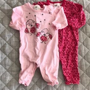 H&M 0-1 Month jumpsuits